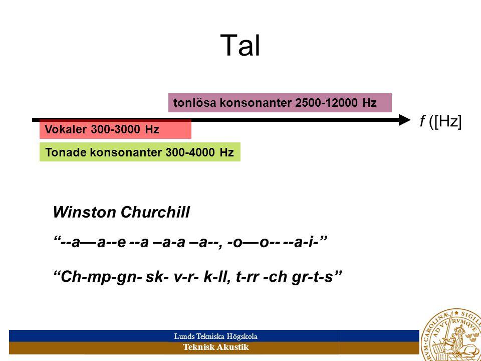 Tal f ([Hz] Winston Churchill --a—a--e --a –a-a –a--, -o—o-- --a-i-